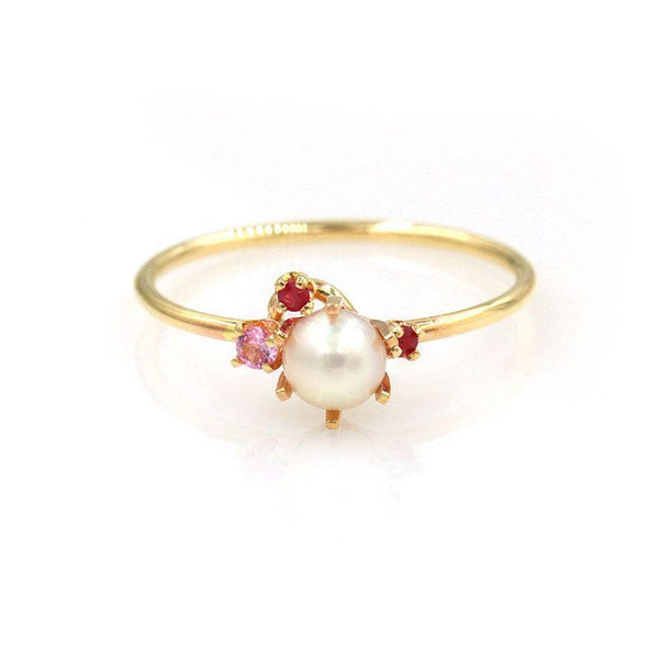 Pearl Pink Sapphire Ruby Ring - LoveAudryRose.com