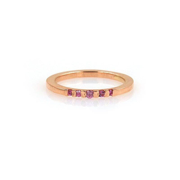Petite Pink Sapphire Pinky Ring - LoveAudryRose.com