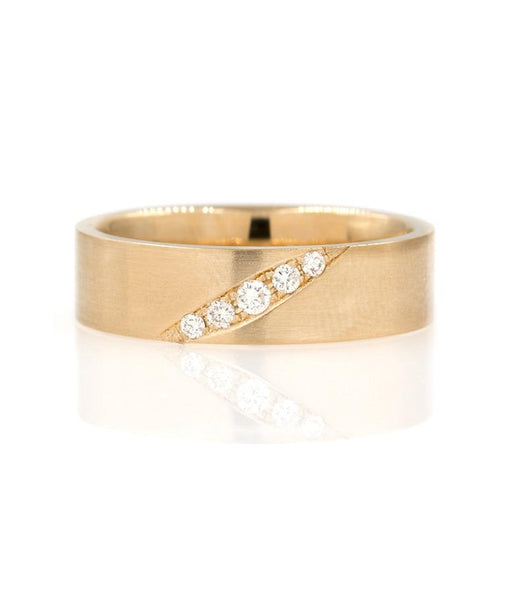 5mm Band with Diagonal Diamonds - LoveAudryRose.com