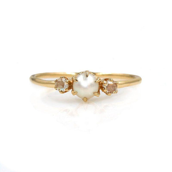 Pearl Diamond Darling Ring - LoveAudryRose.com