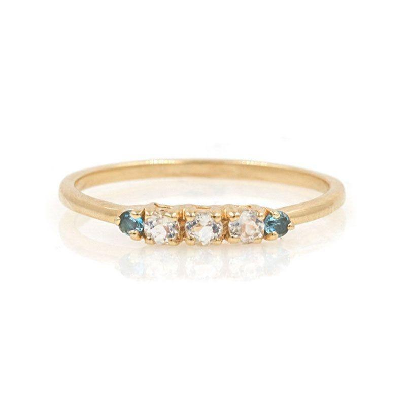 Riley Moonstone Aqua band - LoveAudryRose.com