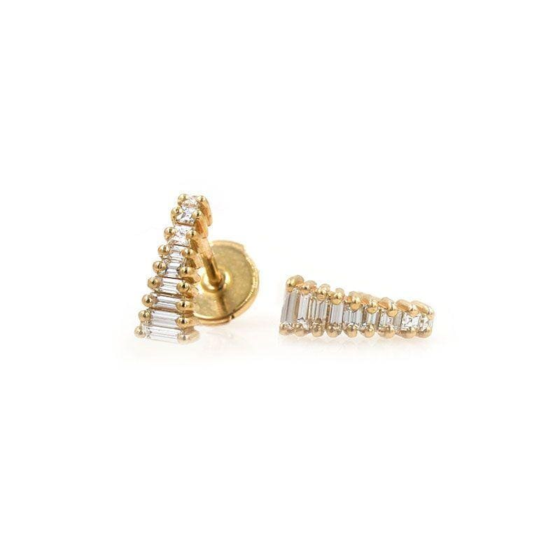 Art Deco Diamond Tower Studs - LoveAudryRose.com