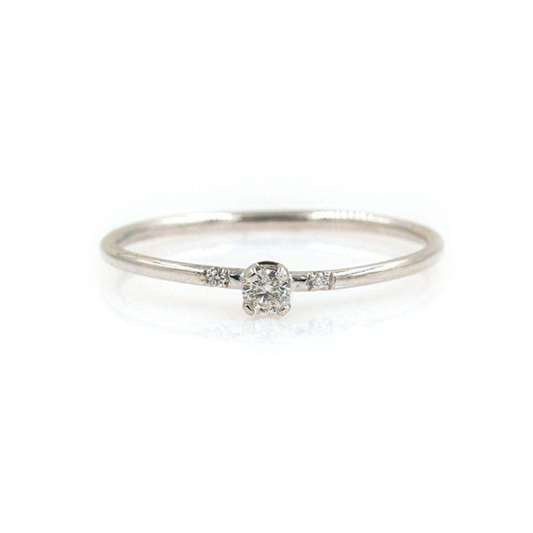 White Gold Sparkly Diamond Ring - LoveAudryRose.com