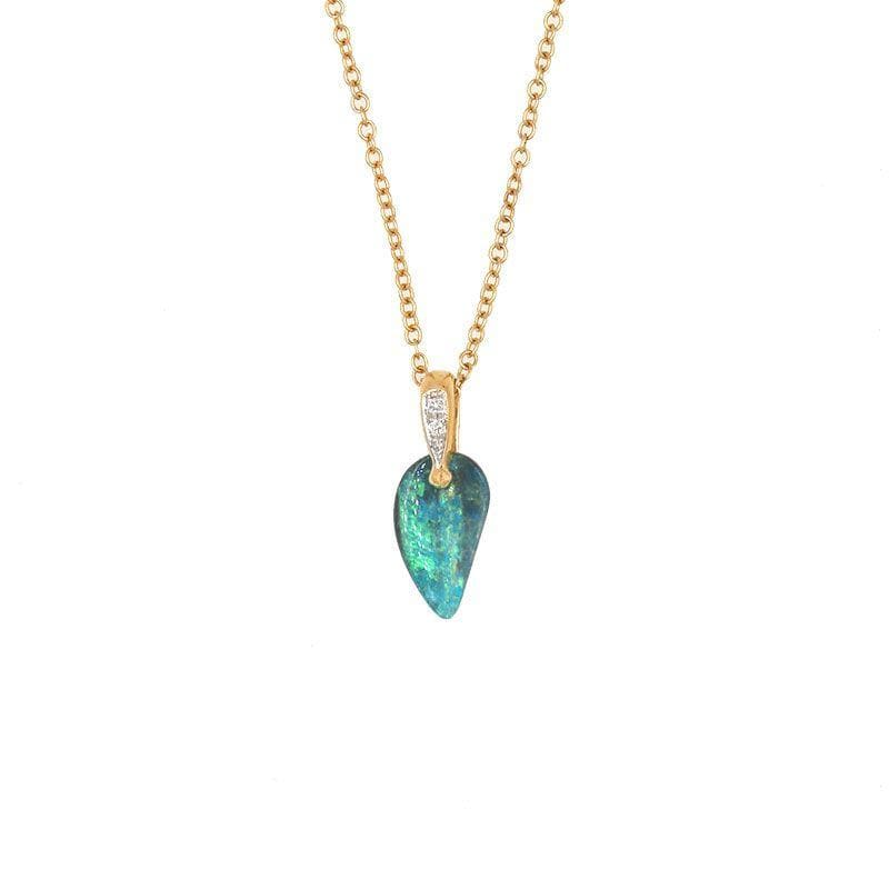 Teardrop Boulder Opal Necklace - LoveAudryRose.com