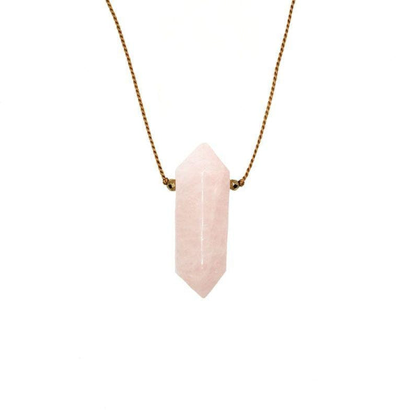 Large Rose Quartz Vibe Necklace - LoveAudryRose.com