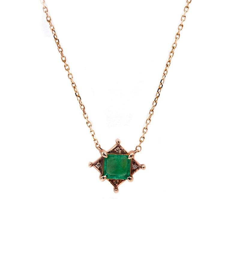 Emerald Art Deco Necklace - LoveAudryRose.com