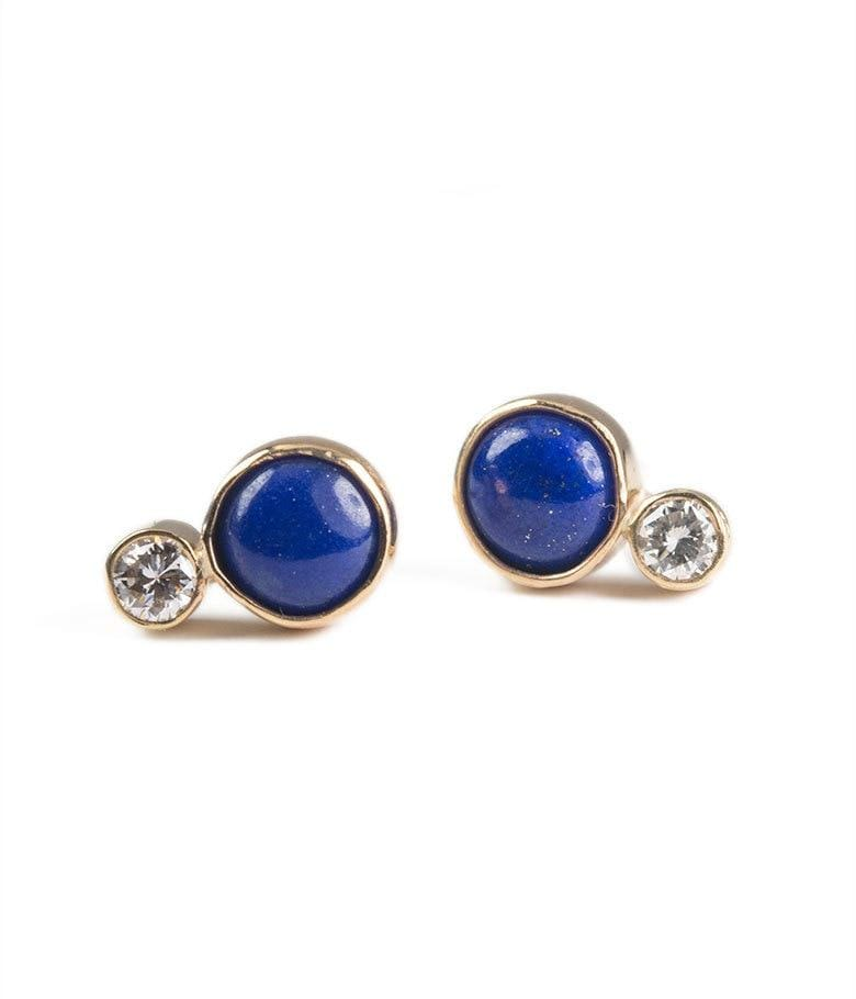 Lapis and Diamond Earrings