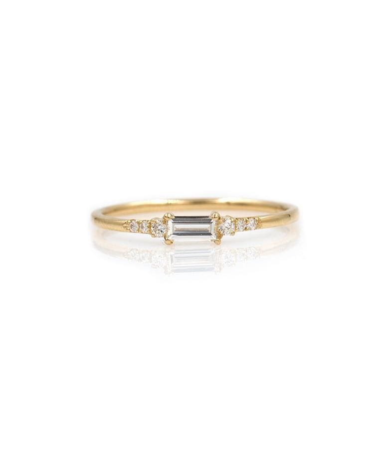 Baguette Diamond Princess Ring