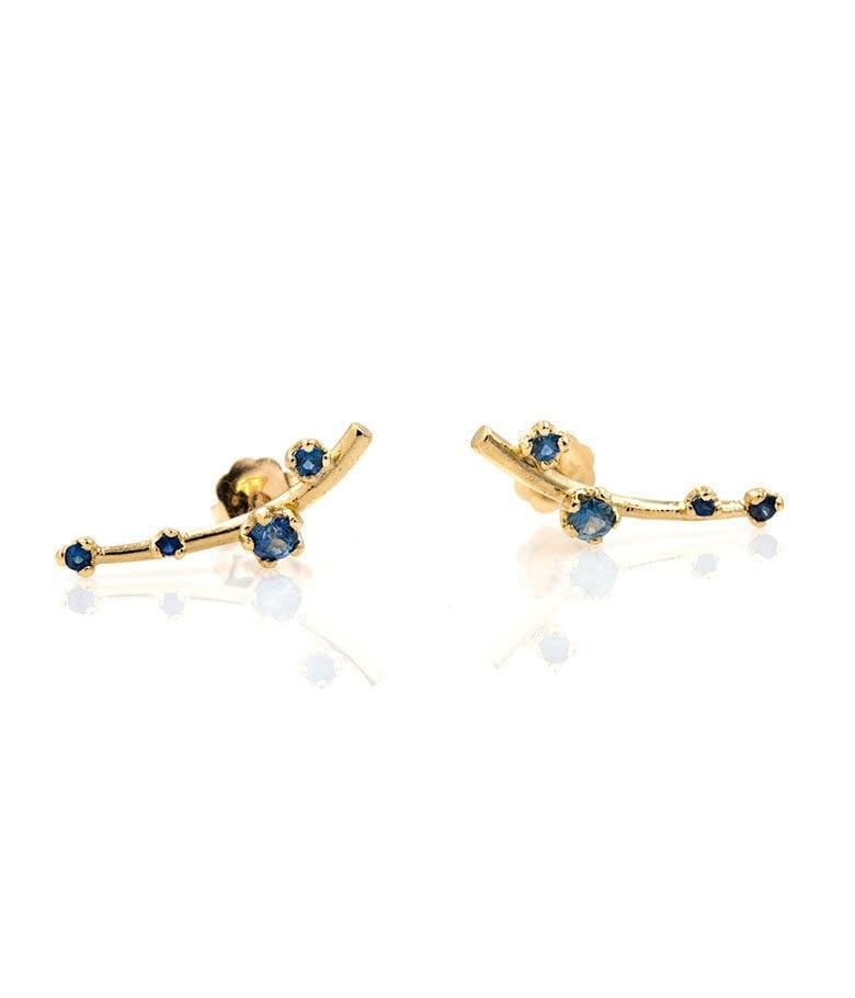 Sapphire Branch Earrings