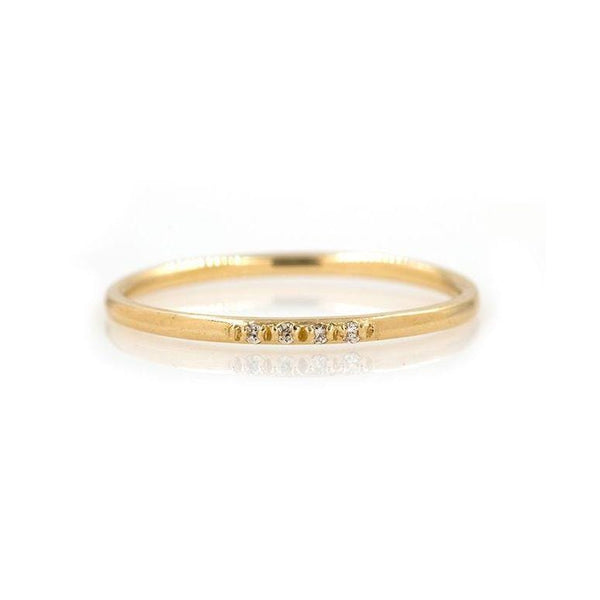 Dainty Diamond Band - LoveAudryRose.com