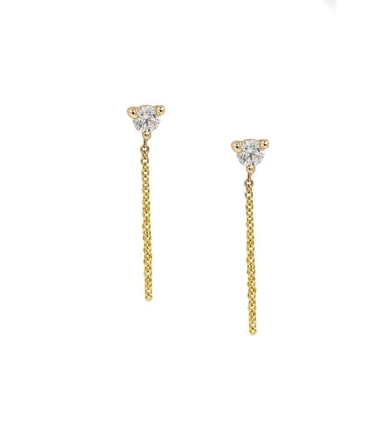 Diamond Fringe Studs