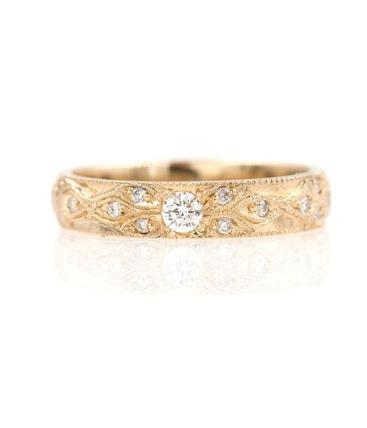 Diamond Milgrain Eternity Ring - LoveAudryRose.com