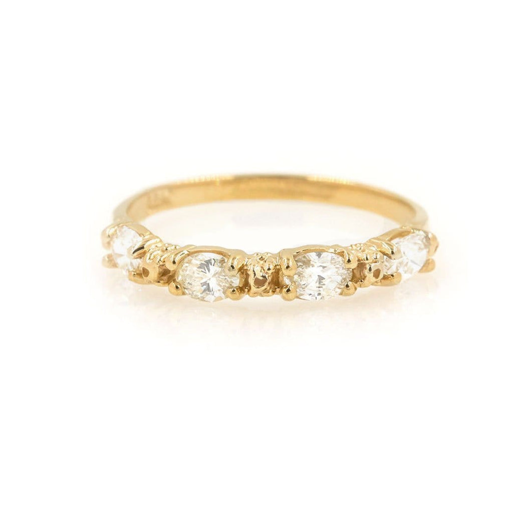 Oval Diamond Prong Band