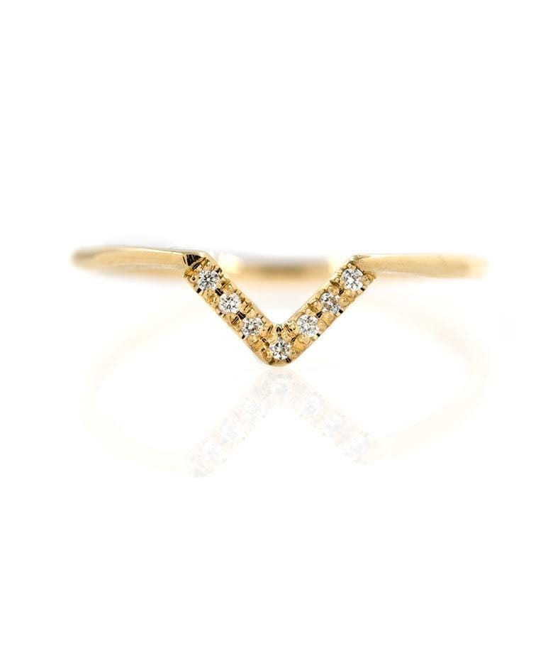 Pave Diamond V-Ring - LoveAudryRose.com