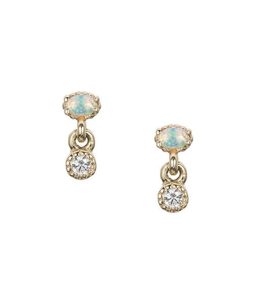 Diamond Opal Drop Studs - LoveAudryRose.com