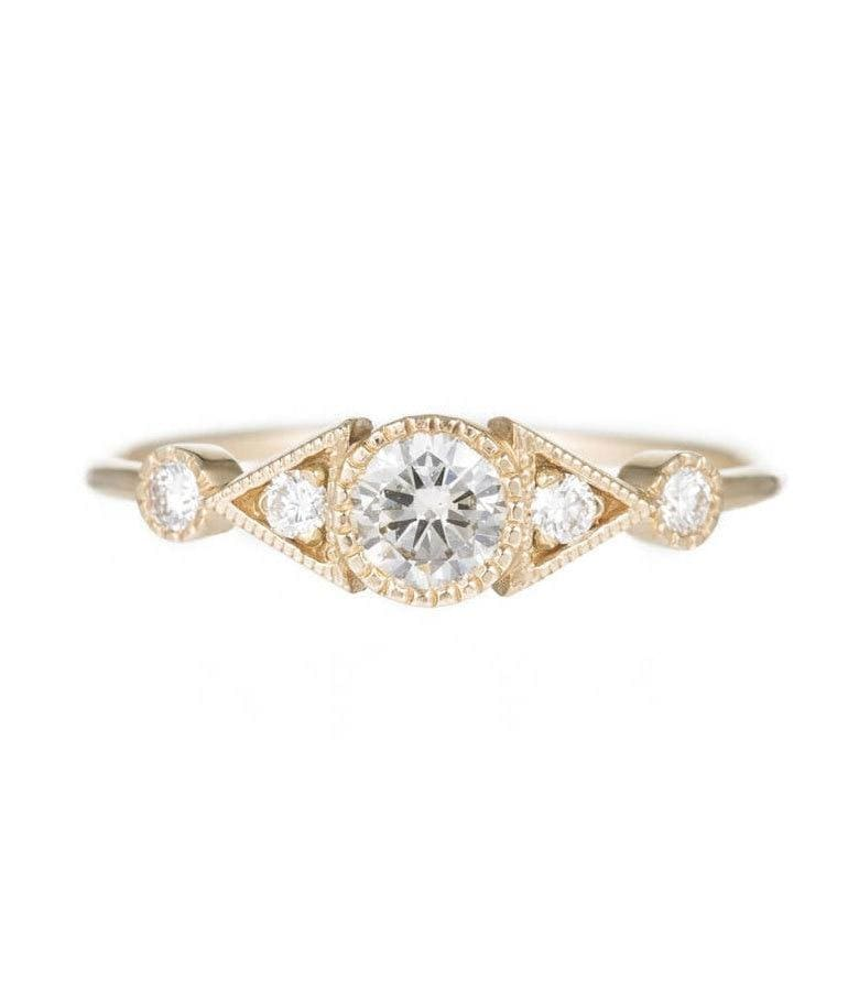 Diamond Duo Deco Spear Ring
