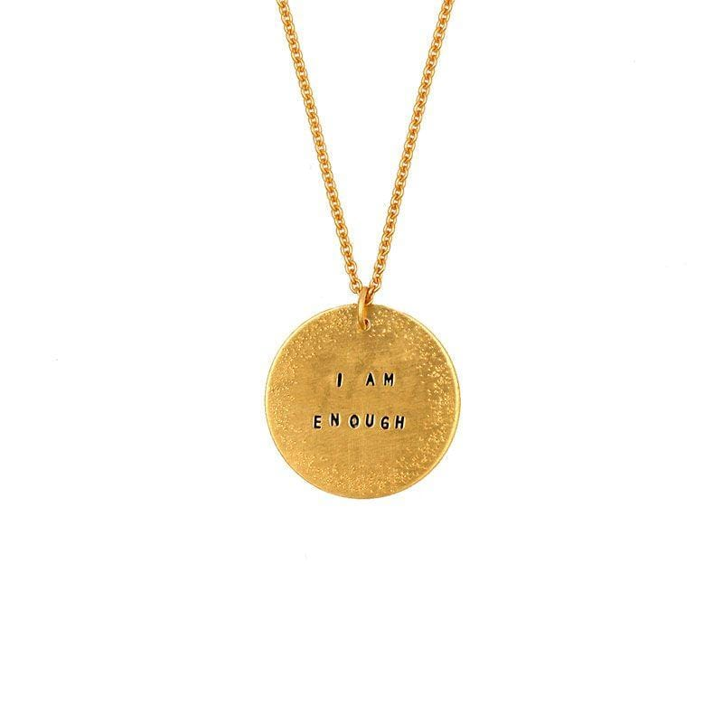 Dusted Medallion Message Necklace - LoveAudryRose.com