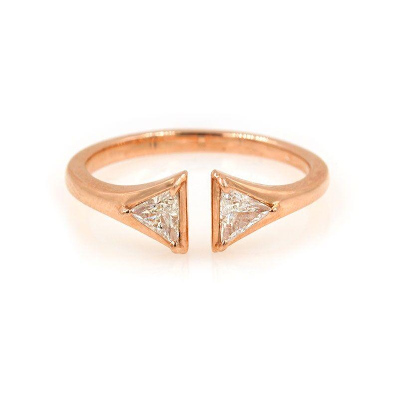 Trillion Diamond Cuff Ring - LoveAudryRose.com