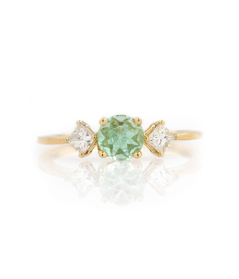 Emerald Diamond Ring - LoveAudryRose.com