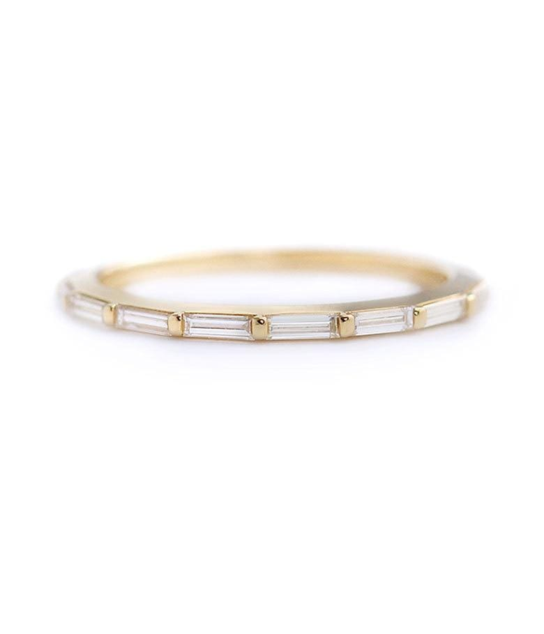 Eternity Baguette Diamond Band - LoveAudryRose.com