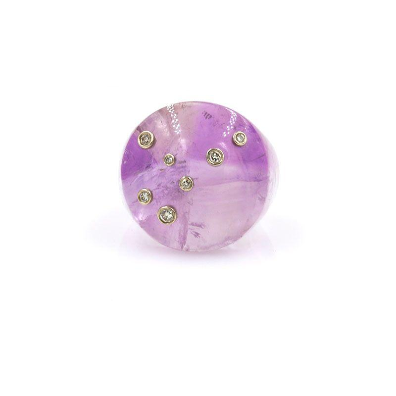 Amethyst Constellation Ring