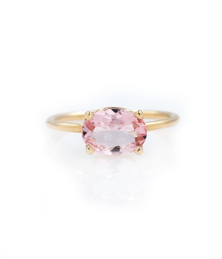 Floating Morganite Ring - LoveAudryRose.com
