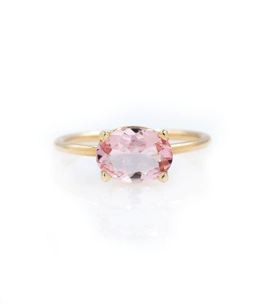 Floating Morganite Ring