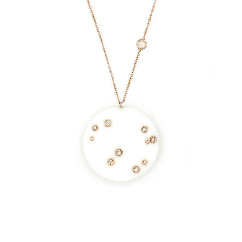 White Onyx Constellation Necklace - LoveAudryRose.com