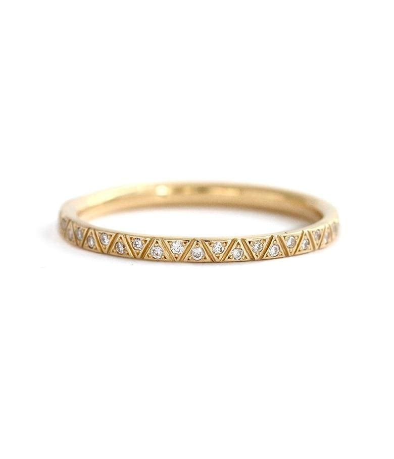 18k Geometric Diamond Eternity Band - LoveAudryRose.com
