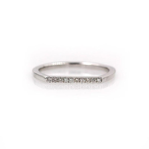 Dainty Walking on Diamonds Ring