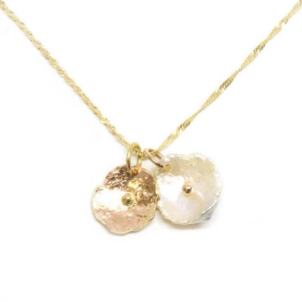 Gold Petal Pearl Necklace - LoveAudryRose.com