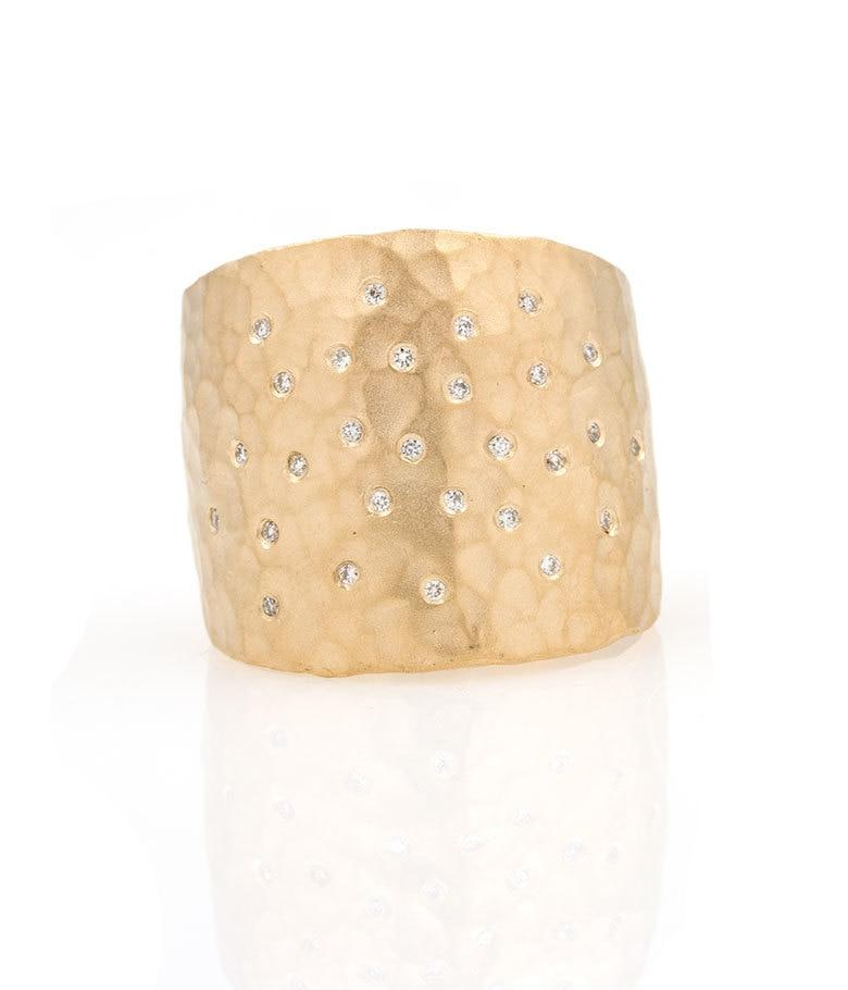 Large Cigar Band with Diamond Sprinkles - LoveAudryRose.com