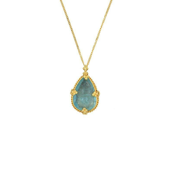 Teardrop Aquamarine Necklace - LoveAudryRose.com