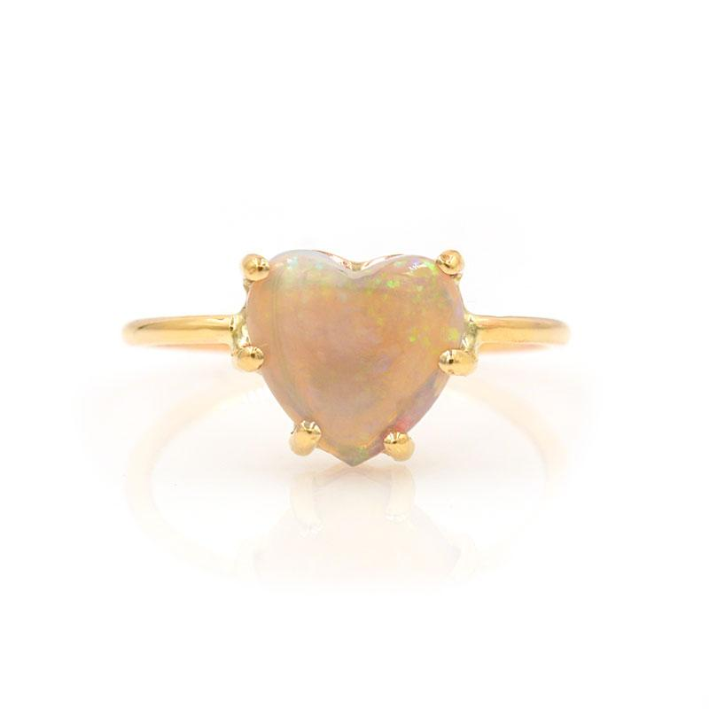 Opal Heart Ring - LoveAudryRose.com