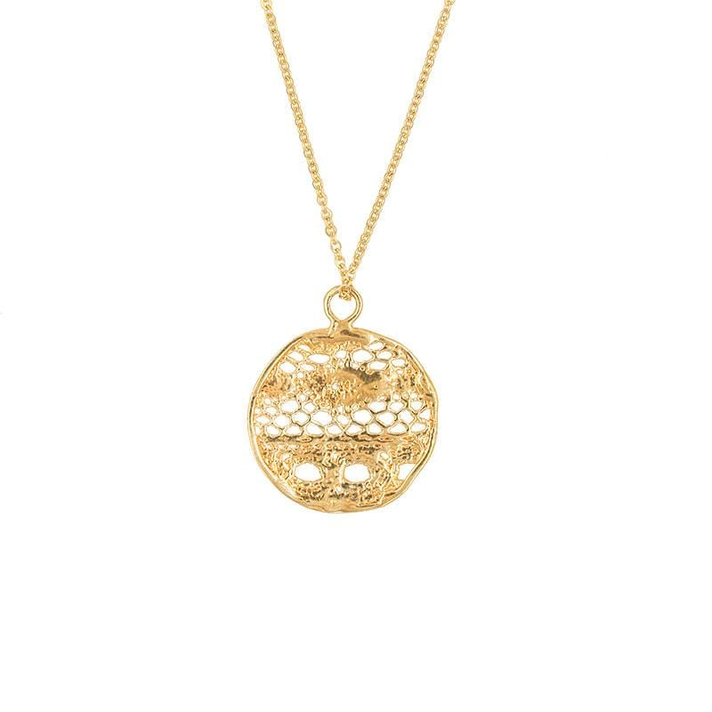 Richardson Lace Medallion Necklace - LoveAudryRose.com