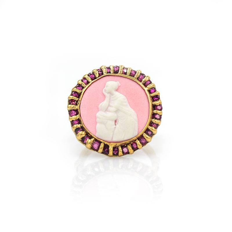 Think Pink Ruby Cameo Ring