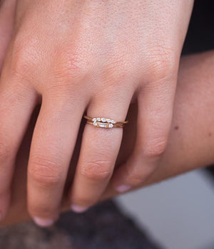 Classic Baguette Diamond Arch Stack