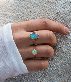 Opal Signet Ring