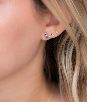 Pink Ombre Bar Studs