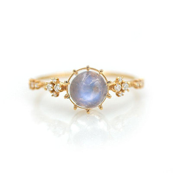 Twinkling Moonstone Oracle Ring - LoveAudryRose.com