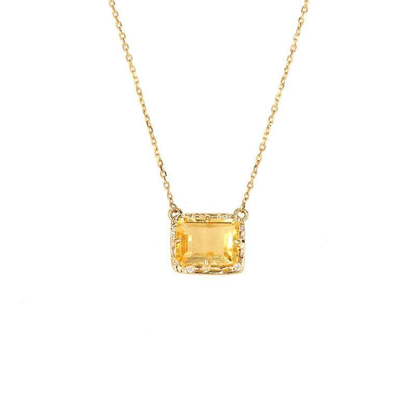Starry Citrine Necklace - LoveAudryRose.com