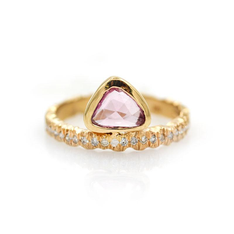 Pink Sapphire Cassiopeia Ring