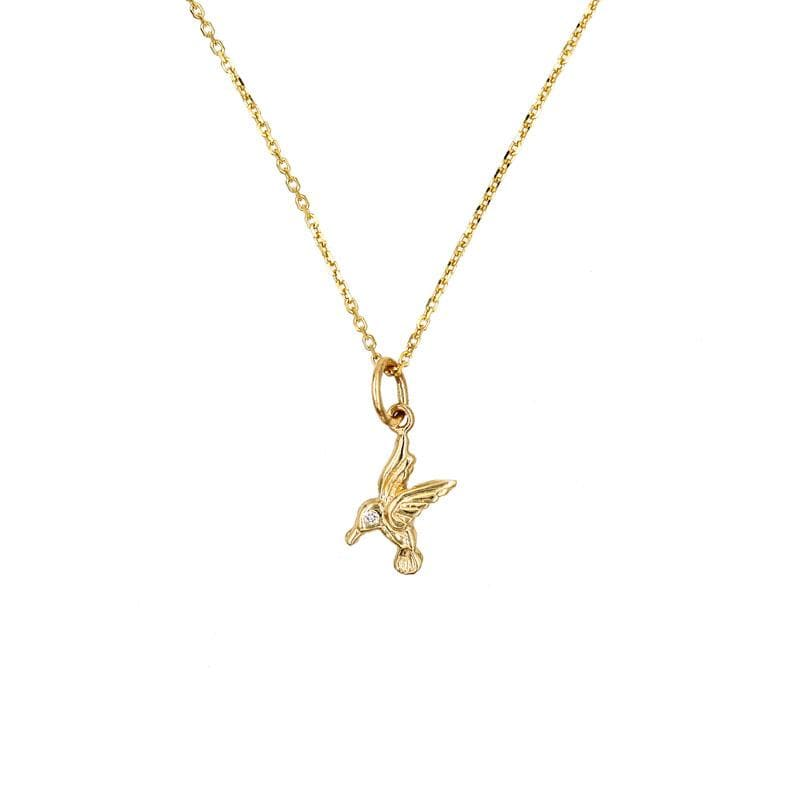 Little Hummingbird Charm Necklace