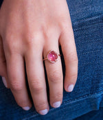 Pink Tourmaline Diamond Ring