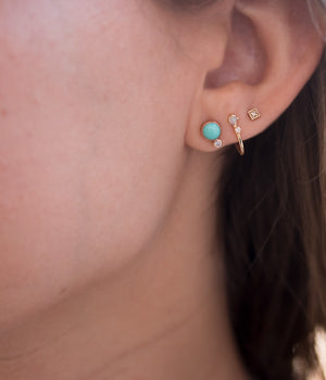 Opal Diamond Ear Hug Studs