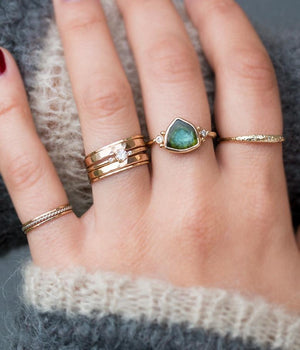 Multi-band Sparkly Ring Stack