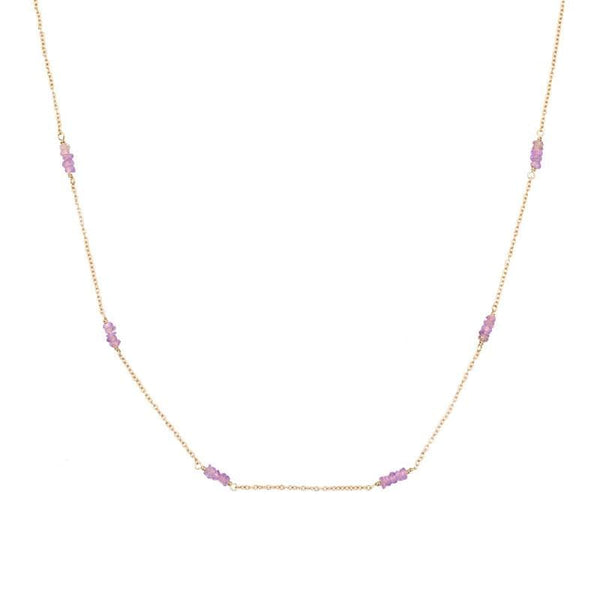 Pink Sapphire Strand Necklace