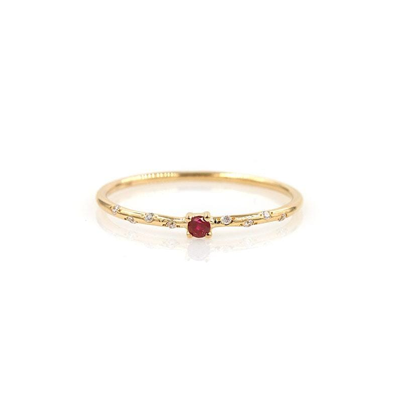 Dainty Starry Ruby Solitaire
