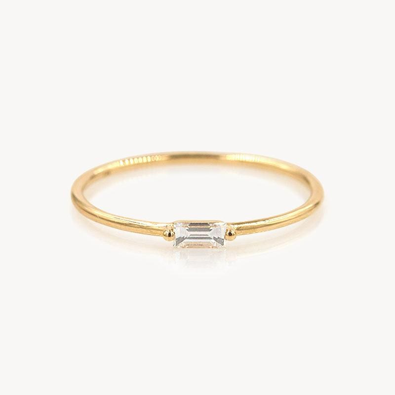 Dainty Diamond Baguette Band