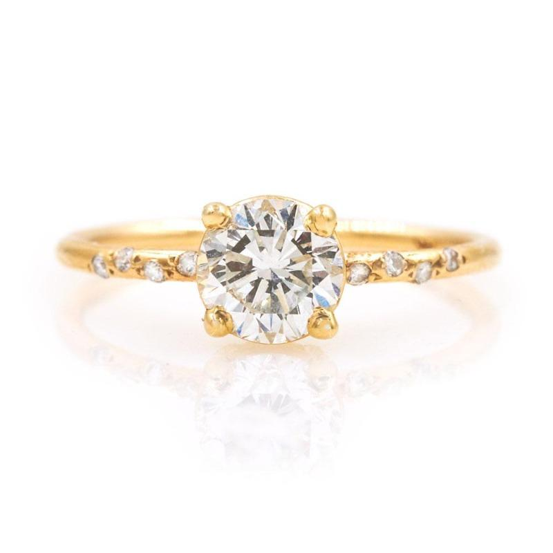Starry Round Diamond Ring - LoveAudryRose.com